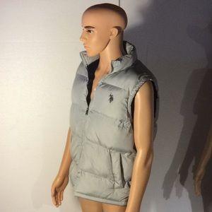Preowned US Polo Grey Vest Size Men's Medium